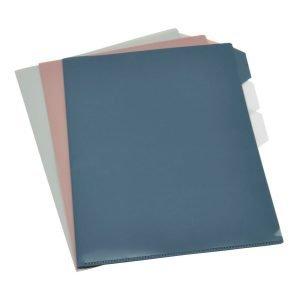 Monograph Combo Dokument Folder Muovitasku A4 Punainen / Sininen / Harmaa 3-Pakkaus