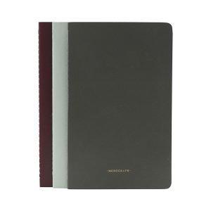 Monograph Muistiinpanokirja Vihreä / Harmaa / Bordeaux 13x21 Cm