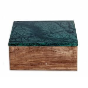 Nordstjerne Green Marble Säilytyslaatikko Large Puu / Marmori