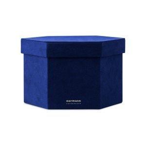 Normann Copenhagen Velour Box Laatikko L Sininen