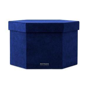 Normann Copenhagen Velour Box Laatikko Xl Sininen