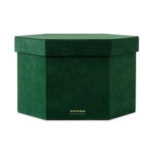 Normann Copenhagen Velour Box Laatikko Xl Tummanvihreä
