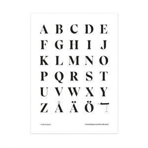 Olle Eksell Eksell Alphabet #1 Juliste 50x70 Cm