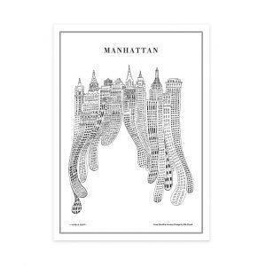 Olle Eksell Manhattan Juliste 50x70 Cm