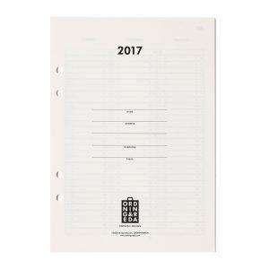 Ordning & Reda Insert Kalenteri 2017 A5 Valkoinen / Musta