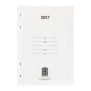 Ordning & Reda Insert Kalenteri 2017 A6 Valkoinen / Musta