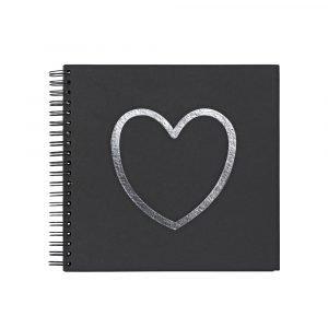 Ordning & Reda O & R Love Valokuva Albumi Musta 33x32 Cm
