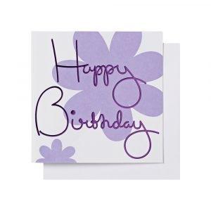 Ordning & Reda O & R Onnittelukortti Syntymäpäivä Lila 14