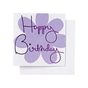 Ordning & Reda O & R Onnittelukortti Syntymäpäivä Lila 7