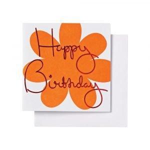 Ordning & Reda O & R Onnittelukortti Syntymäpäivä Oranssi 7