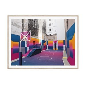 Paper Collective Cities Of Basketball 08 Juliste 30x40 Cm