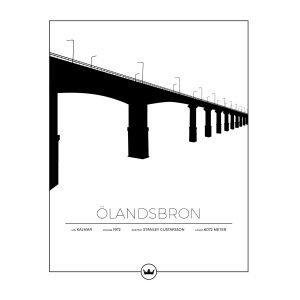 Sverigemotiv Ölandsbron Kalmar / Öland Poster Juliste 40x50 Cm