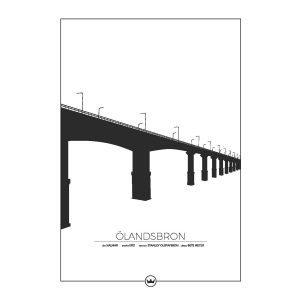 Sverigemotiv Ölandsbron Kalmar / Öland Poster Juliste 50x70 Cm