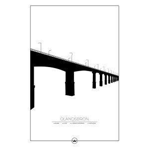 Sverigemotiv Ölandsbron Kalmar / Öland Poster Juliste 61x91 Cm