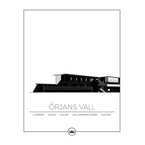 Sverigemotiv Örjans Vall Halmstad Juliste 40x50 Cm