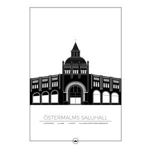 Sverigemotiv Östermalms Saluhall Stockholm Poster Juliste 50x70 Cm