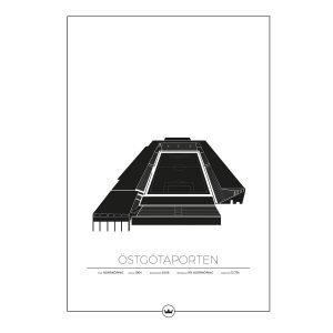 Sverigemotiv Östgötaporten Norrköping Poster Juliste 50x70 Cm