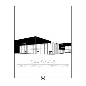 Sverigemotiv Abb Arena Karlskrona Poster Juliste 40x50 Cm