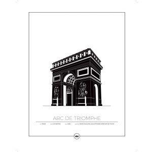 Sverigemotiv Arc De Triomphe Paris Poster Juliste 40x50 Cm