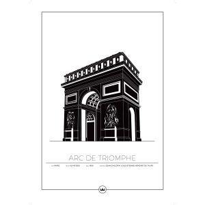 Sverigemotiv Arc De Triomphe Paris Poster Juliste 50x70 Cm