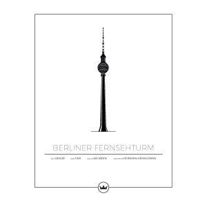 Sverigemotiv Berliner Fernsehturm Juliste 40x50 Cm