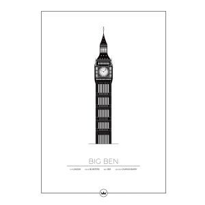 Sverigemotiv Big Ben London Poster Juliste 40x50 Cm
