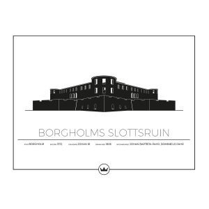 Sverigemotiv Borgholms Slottsruin Öland Poster Juliste 40x50 Cm
