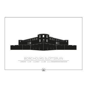 Sverigemotiv Borgholms Slottsruin Öland Poster Juliste 50x70 Cm
