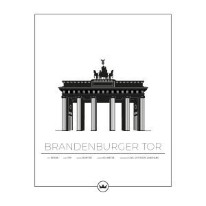Sverigemotiv Brandenburger Tor Berlin Juliste 40x50 Cm