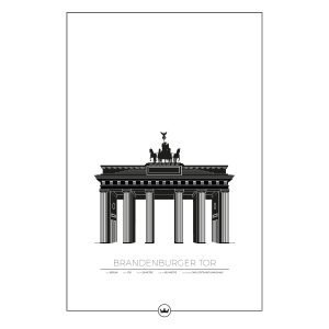 Sverigemotiv Brandenburger Tor Berlin Juliste 61x91 Cm