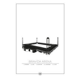 Sverigemotiv Bravida Arena Göteborg Poster Juliste 50x70 Cm