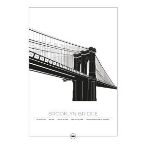 Sverigemotiv Brooklyn Bridge New York Poster Juliste 50x70 Cm