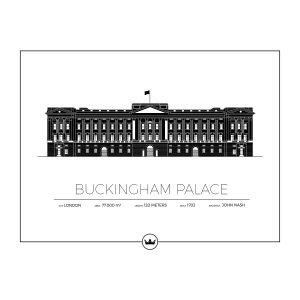 Sverigemotiv Buckingham Palace London Poster Juliste 50x70 Cm