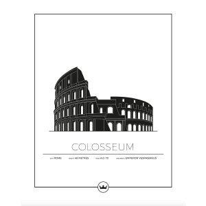 Sverigemotiv Colosseum Rom Poster Juliste 40x50 Cm