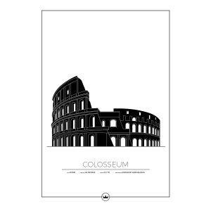 Sverigemotiv Colosseum Rom Poster Juliste 50x70 Cm