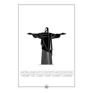Sverigemotiv Cristo Redentor Rio Poster Juliste 50x70 Cm