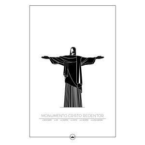 Sverigemotiv Cristo Redentor Rio Poster Juliste 61x91 Cm