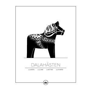 Sverigemotiv Dalahästen Avesta Poster Juliste 40x50 Cm