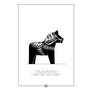 Sverigemotiv Dalahästen Avesta Poster Juliste 50x70 Cm