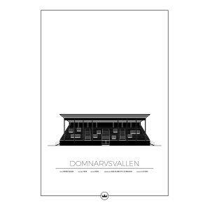 Sverigemotiv Domnarsvallen Borlänge Poster Juliste 50x70 Cm