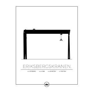 Sverigemotiv Eriksbergskranen Göteborg Poster Juliste 40x50 Cm