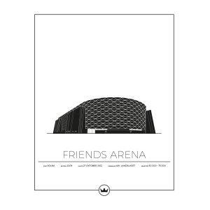 Sverigemotiv Friends Arena Stockholm Poster Juliste 40x50 Cm