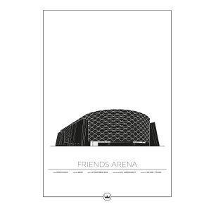 Sverigemotiv Friends Arena Stockholm Poster Juliste 50x70 Cm