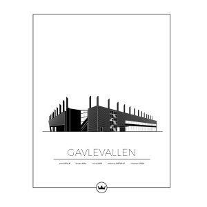 Sverigemotiv Gavlevallen Gävle Poster Juliste 40x50 Cm