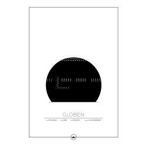 Sverigemotiv Globen Stockholm Poster Juliste 50x70 Cm