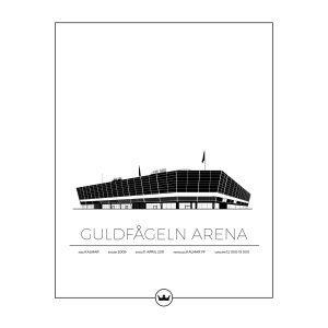 Sverigemotiv Guldfågeln Arena Kalmar Poster Juliste 40x50 Cm