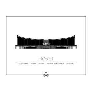 Sverigemotiv Hovet Stockholm Poster Juliste 40x50 Cm
