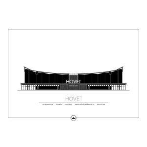 Sverigemotiv Hovet Stockholm Poster Juliste 50x70 Cm