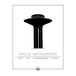 Sverigemotiv Hyllie Vattentorn Malmö Poster Juliste 40x50 Cm