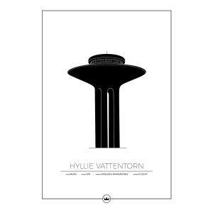 Sverigemotiv Hyllie Vattentorn Malmö Poster Juliste 50x70 Cm